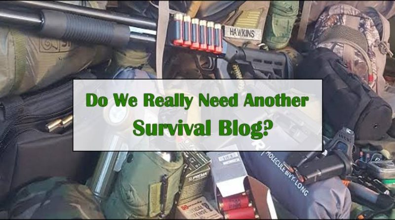 Do we really need another survival blog?