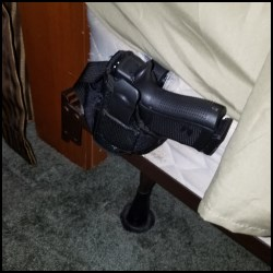 My old bedside handgun holster