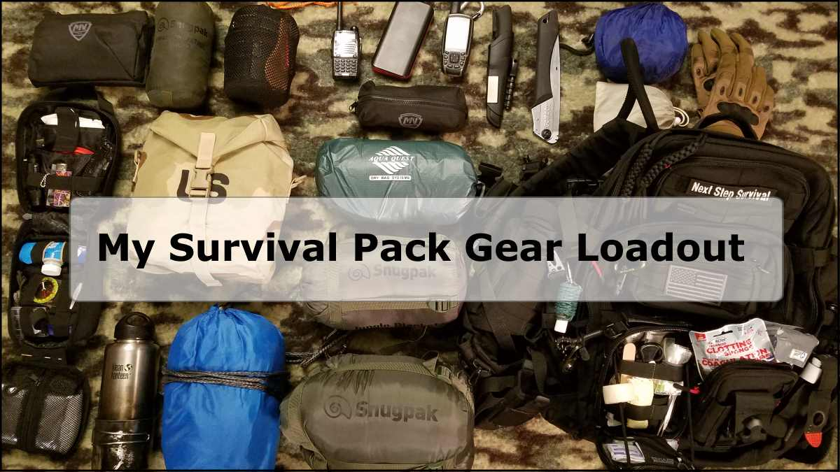 Survival Pack Gear Loadout – Survival Training Pack