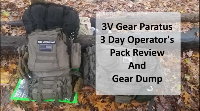 Paratus 3 Day Operator's Pack Review