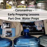 Coronavirus - Prepping Lessons - Water Preps