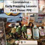 Coronavirus Prepping Lessons - PPE