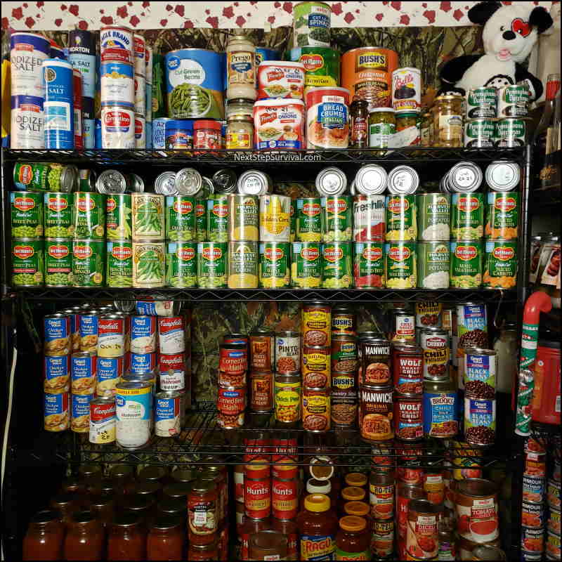 Image- Prepper pantry canned vegetables