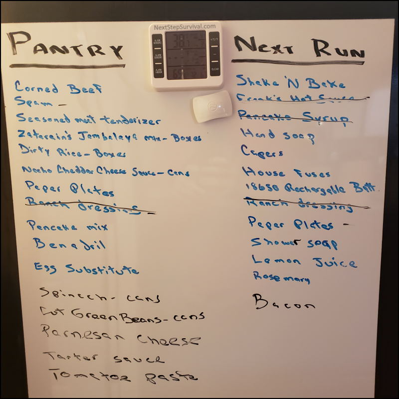 Image - prepper pantry shopping list