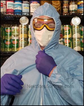 Wearing My DIY PPE Pandemic Kit