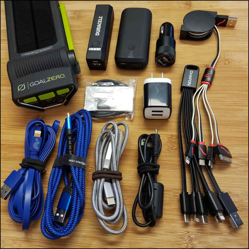 Device charging kit accessories