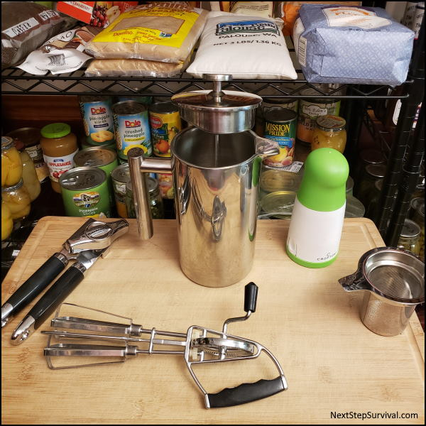 Kitchen tools when building a blackout kit.