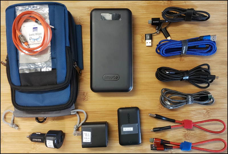 My bug out bag charging kit.