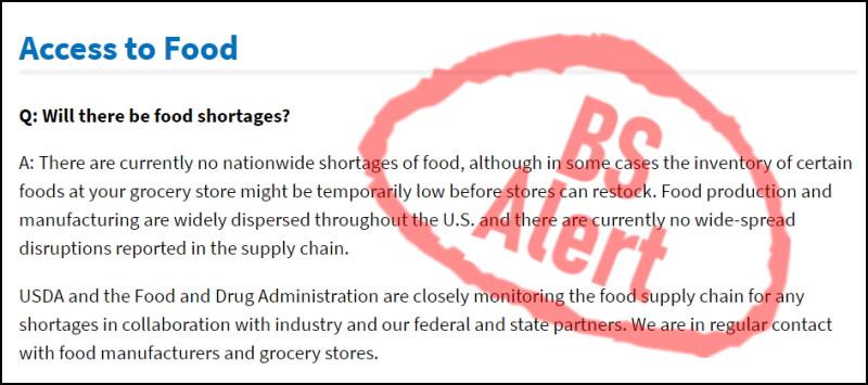 image - USDA Food Shortages Lie