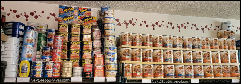 image - Meat shelf of our prepper pantry