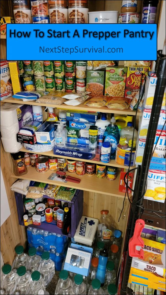 Pinterest Image - How To Start A Prepper Pantry