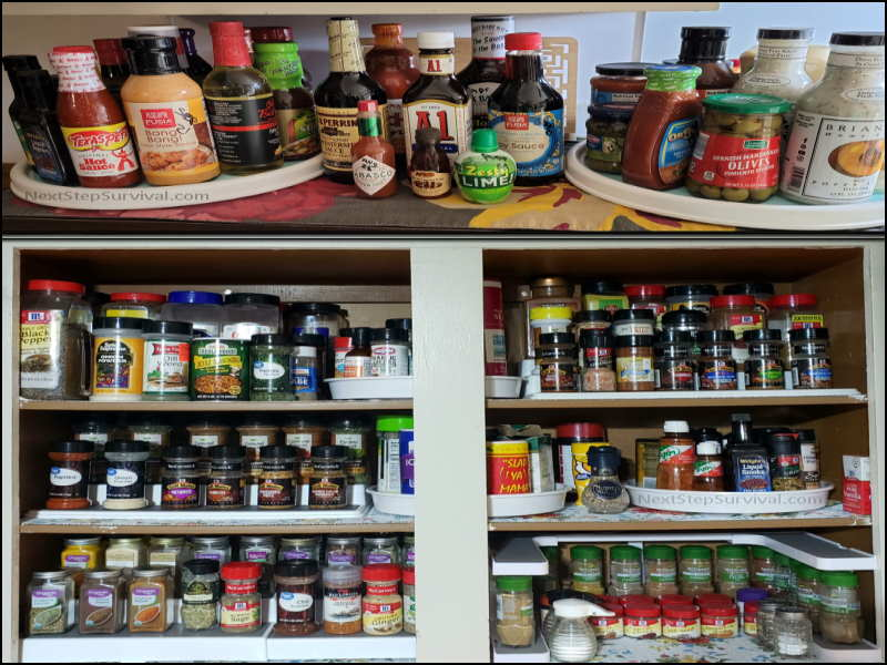 Prepper Pantry Spices and Sauces