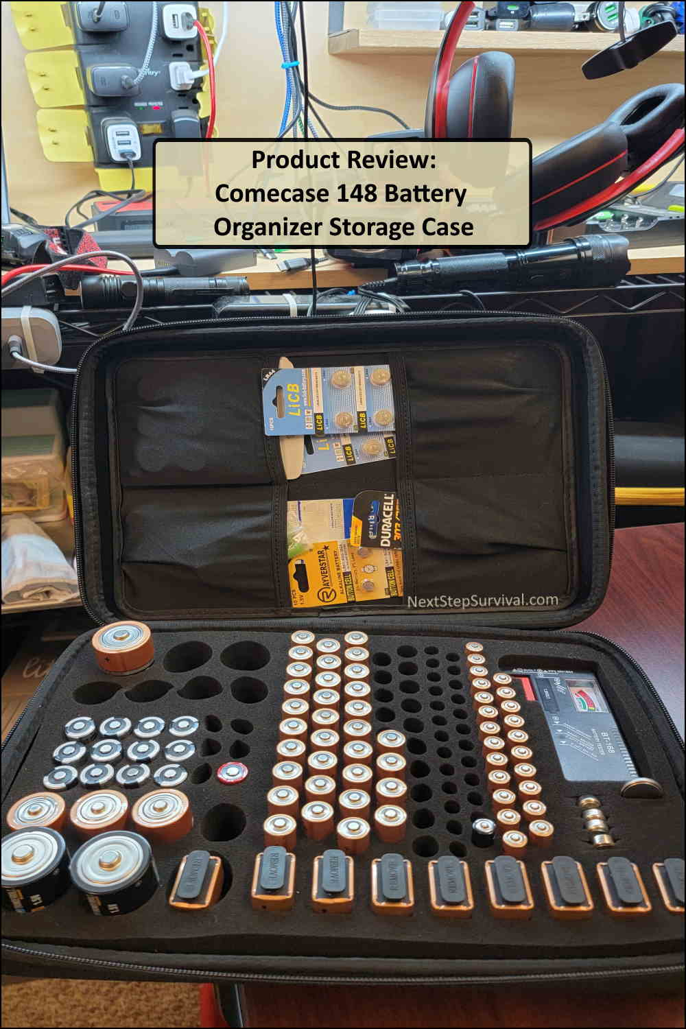 Pinterest Image - Comecase 148 Battery Organizer Storage Box Product Review