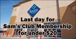 Read more about the article Back On Through The End Of October: Sam's Club Membership Under $20