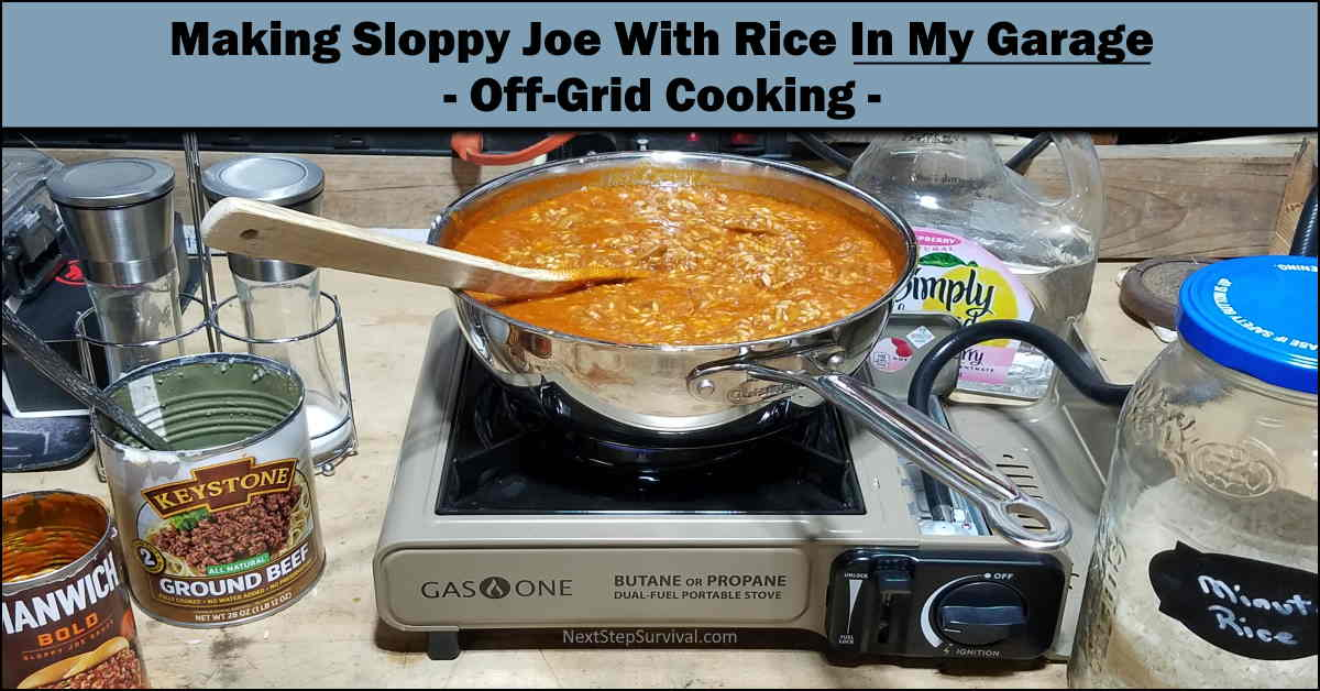 You are currently viewing Cooking From The Pantry – One-Pot Sloppy Joe With Rice – Video