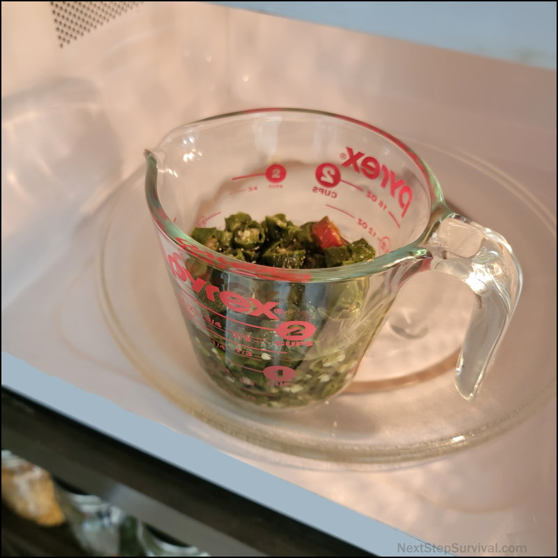 Image - Rehydrating jalapeno peppers in the microwave just as I do to dehydrate dried mushrooms.