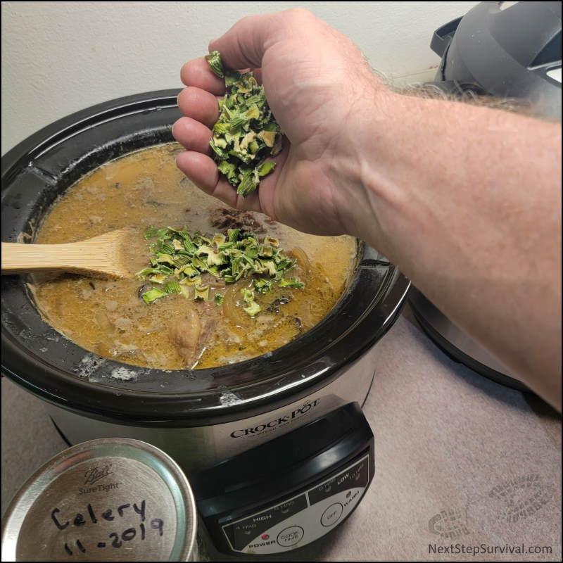 Image - Adding Dehydrated Celery