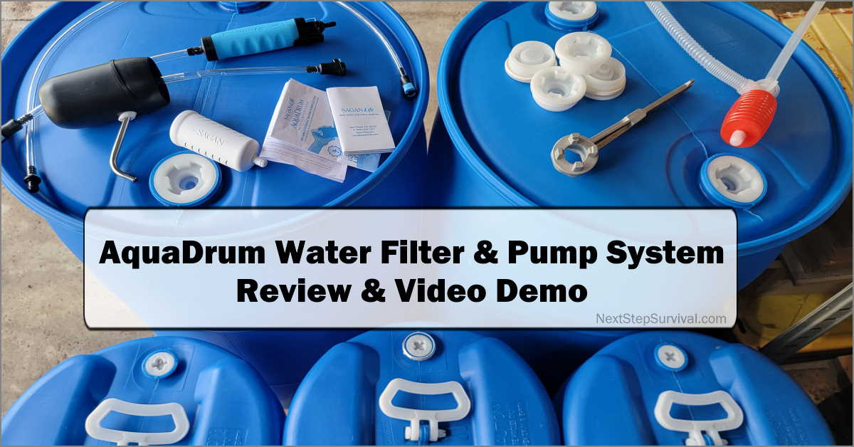 Read more about the article AquaDrum Water Purification System Review & Demo – Video