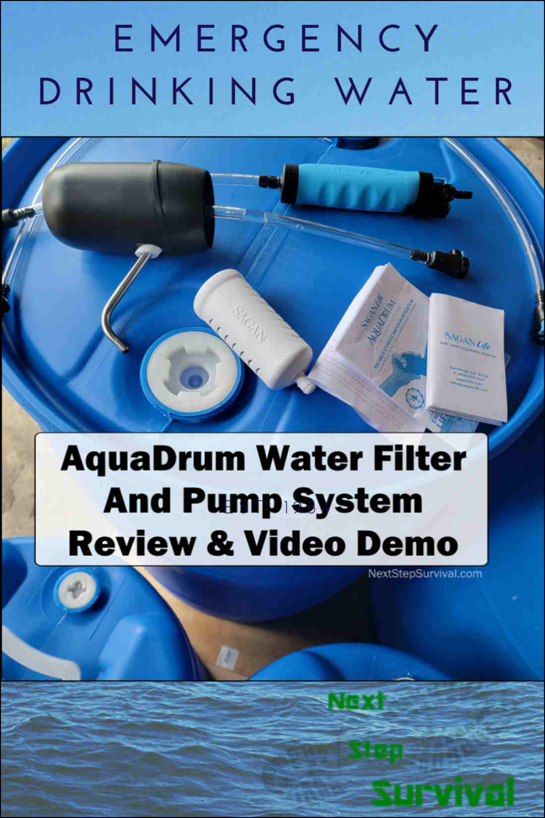Pinterest Image - AquaDrum Water Purification System Review & Demo